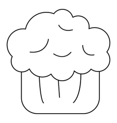 Cake muffin icon outline style vector image