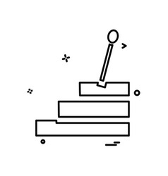 car gear box icon design vector image