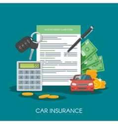 Car insurance form concept vector image