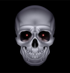 Chrome metal mysterious dark skull 01 vector