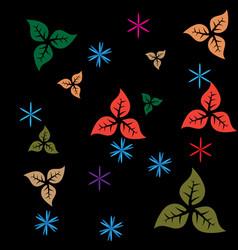 clour leaf pattern background vector image