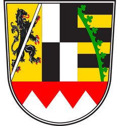 Coat of arms of upper franconia in bavaria germany vector