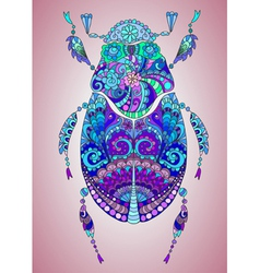 Colorful bug vector