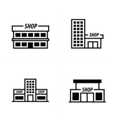 Design supermarket icon vector