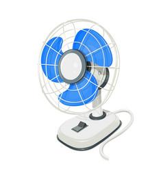 Desk air electric fan vector