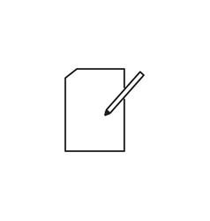 edit line icon vector image