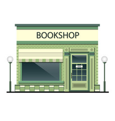 facade of the building with bookshop vector image