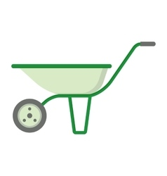 Farmer garden cart vector