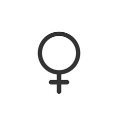 female symbol isolated science icon vector image