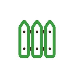 Fence icon Garden vector