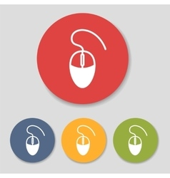 Flat computer mouse icons vector