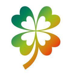 four leaves clover good fortune vector image