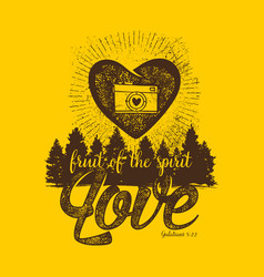 fruit of the spirit love vector image