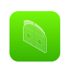 gate icon green vector image