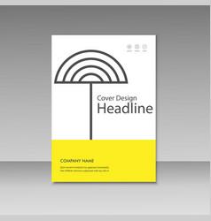 geometric abstract brochure templates modern vector image