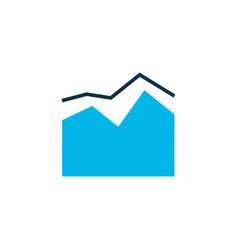 graph icon colored symbol premium quality vector image