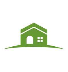 Green hill house vector