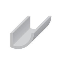 Gutter shape icon vector
