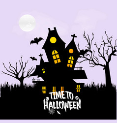 happy halloween with creative design vector image