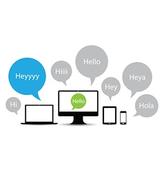hello technology group vector image