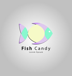 icon fish candy vector image