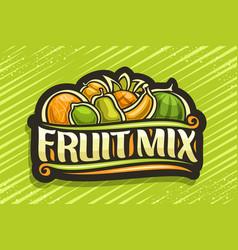 Logo for fruit mix vector
