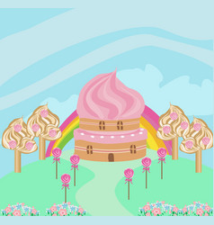 Lovely candy house vector