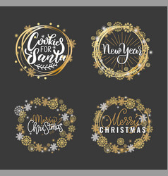 merry christmas happy holidays inscription wishes vector image