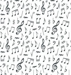 Musical notes seamless pattern background vector image