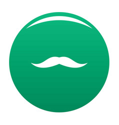 Neat mustache icon green vector