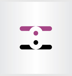 number eight 8 logo negative space design logotype vector image