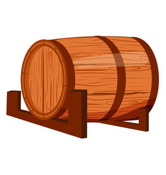old wooden barrel isolated on white background vector image