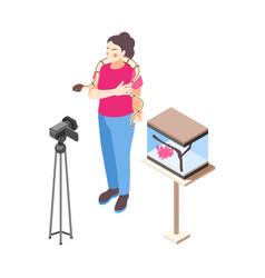 Pet vlogger vector