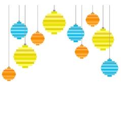 pixel art christmas tree ball flat composition vector image vector image