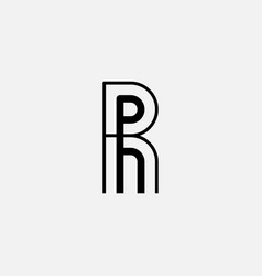 r and - monogram or logotype design element vector image