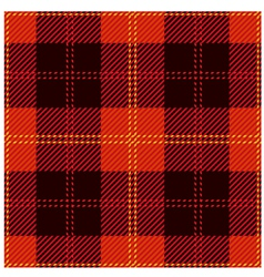 Red Tartan Cloth Design vector image