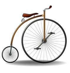 Retro bike vector image