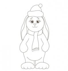 Santa Claus rabbit vector image