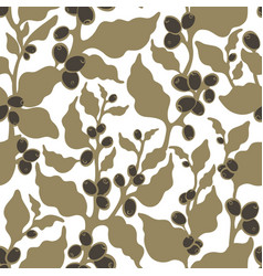 seamless nature pattern coffee plantation harvest vector image