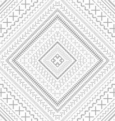 Seamless white ethnic pattern vector