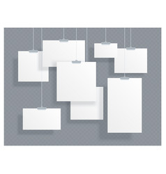 set of white empty id cards vector image