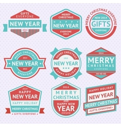 Set stickers for Christmas vector image