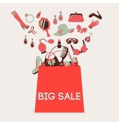 Shopping bag big sale vector