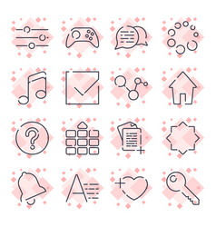 simple universal icons different icons for apps vector image