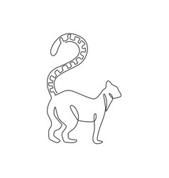 single continuous line drawing lovely adorable vector image