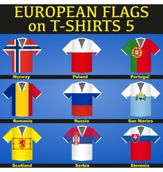 Soccer Jerseys with flags vector image