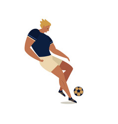 soccer players football flat vector image