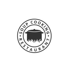 soup cooking logo design template vector image