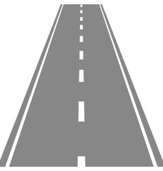 Straight Road simple flat vector
