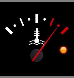 Temperature car gauge scale on black background vector